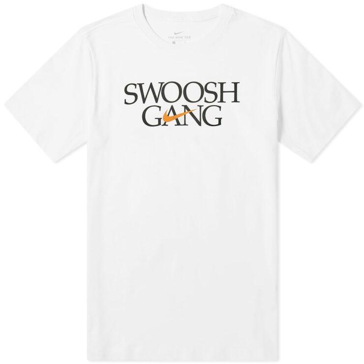 Nike Swoosh Gang T-Shirt in White