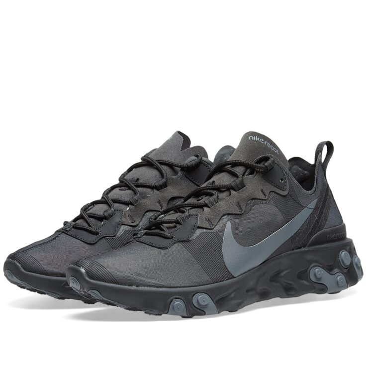 Nike React Element 55 in Black and Grey