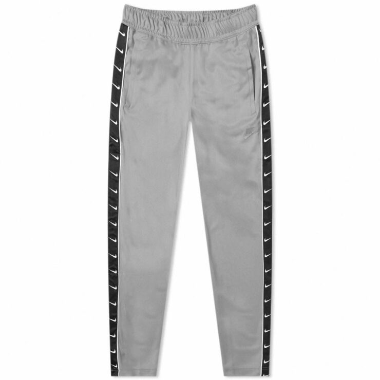 Nike Poly Trackpants 'Wolf Grey, Black & White'