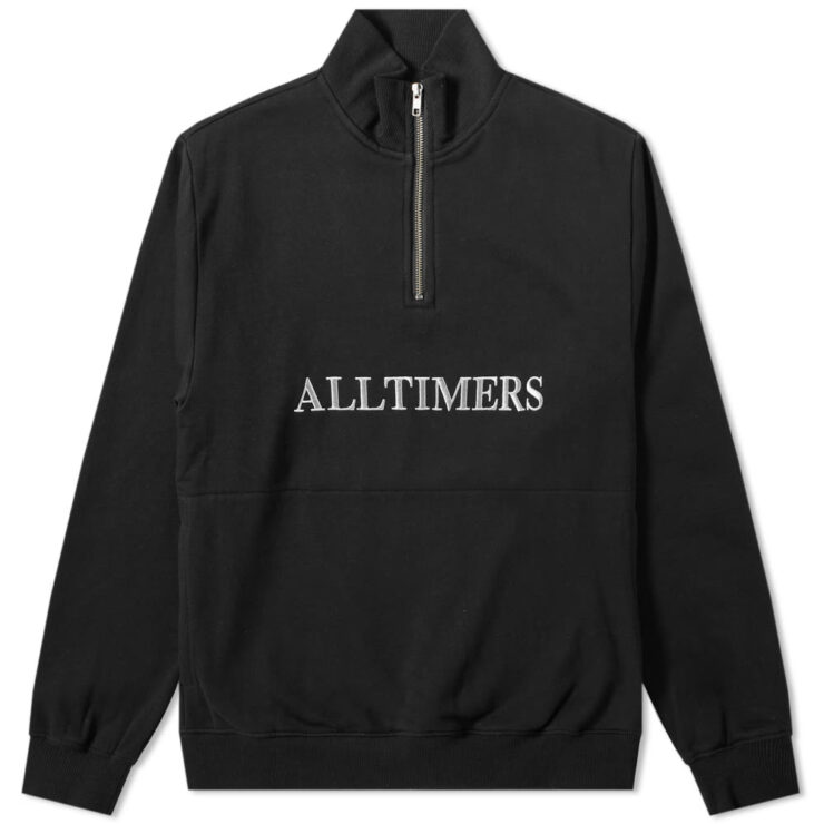AllTimers Nextel Quarter Zip Sweatshirt in Black