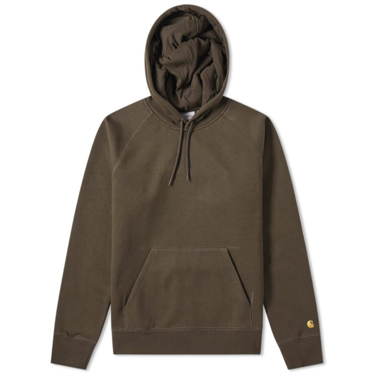 Carhartt WIP Hooded Chase Sweatshirt in Brown