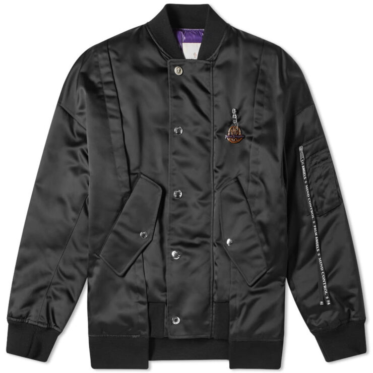 Moncler Genius Project x Palm Angels AXL Bomber Jacket in Black