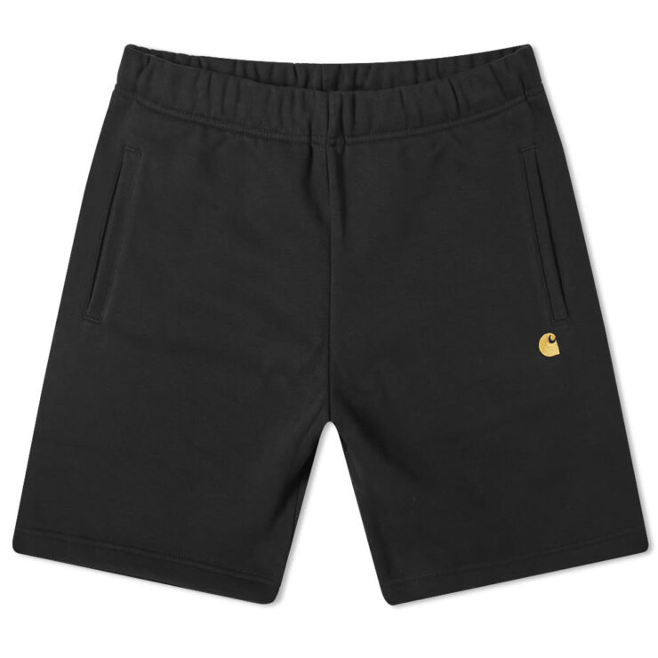 Carhartt Chase Sweat Shorts in Black