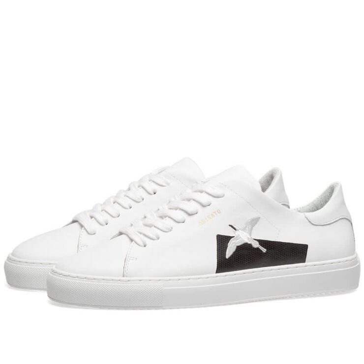 Axel Arigato Clean 90 Taped Bird Sneakers in White