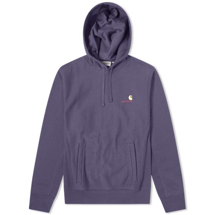 Carhartt WIP American Script Hooded Sweater in Purple