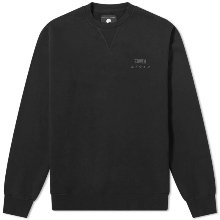 Edwin Base Crewneck Sweatshirt 'Black'