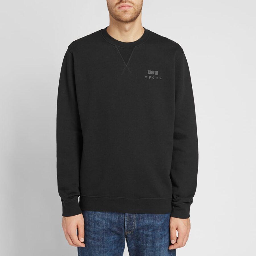 Edwin Base Crewneck Sweatshirt 'Black'