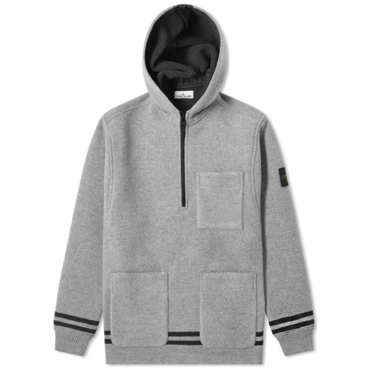 Stone Island Panno Jacquard Anorak Hooded Jacket in Dust