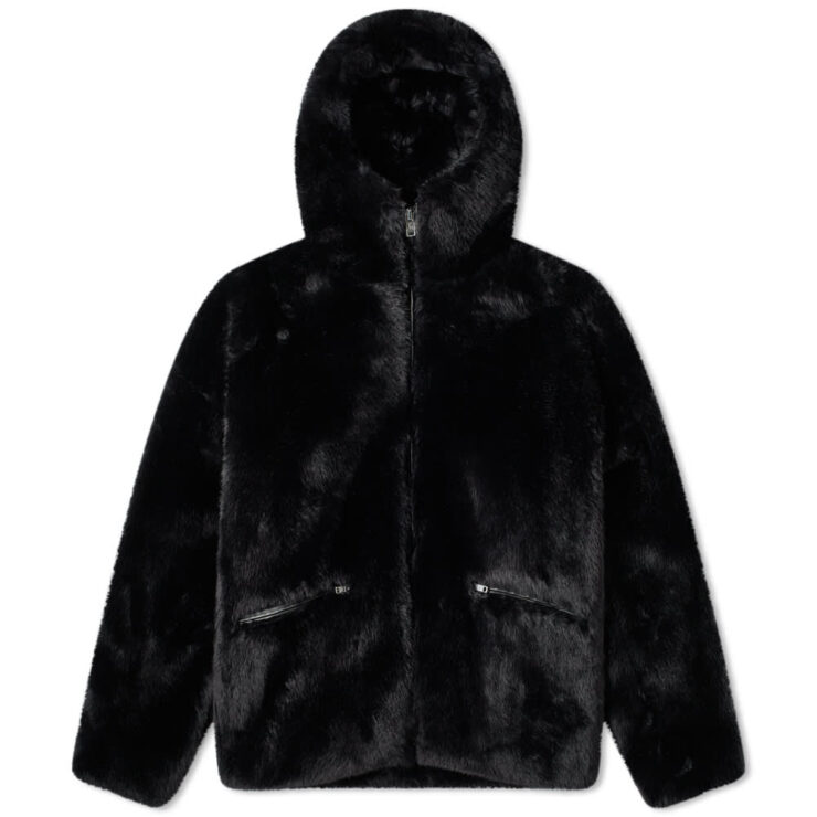 Mastermind World Japan Faux Fur Parka in Black