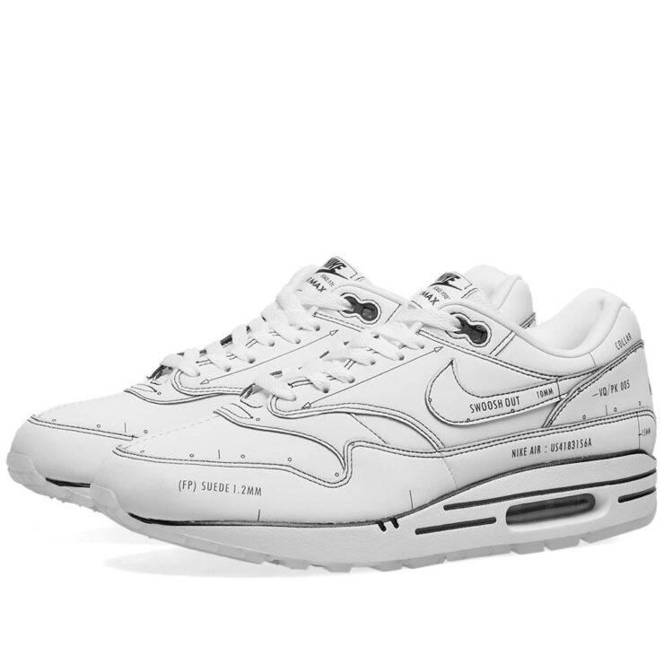Nike Air Max 1 Sketch To Shelf White and Black