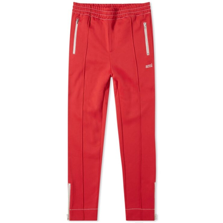 AMI Paris Jogging Pants in Red