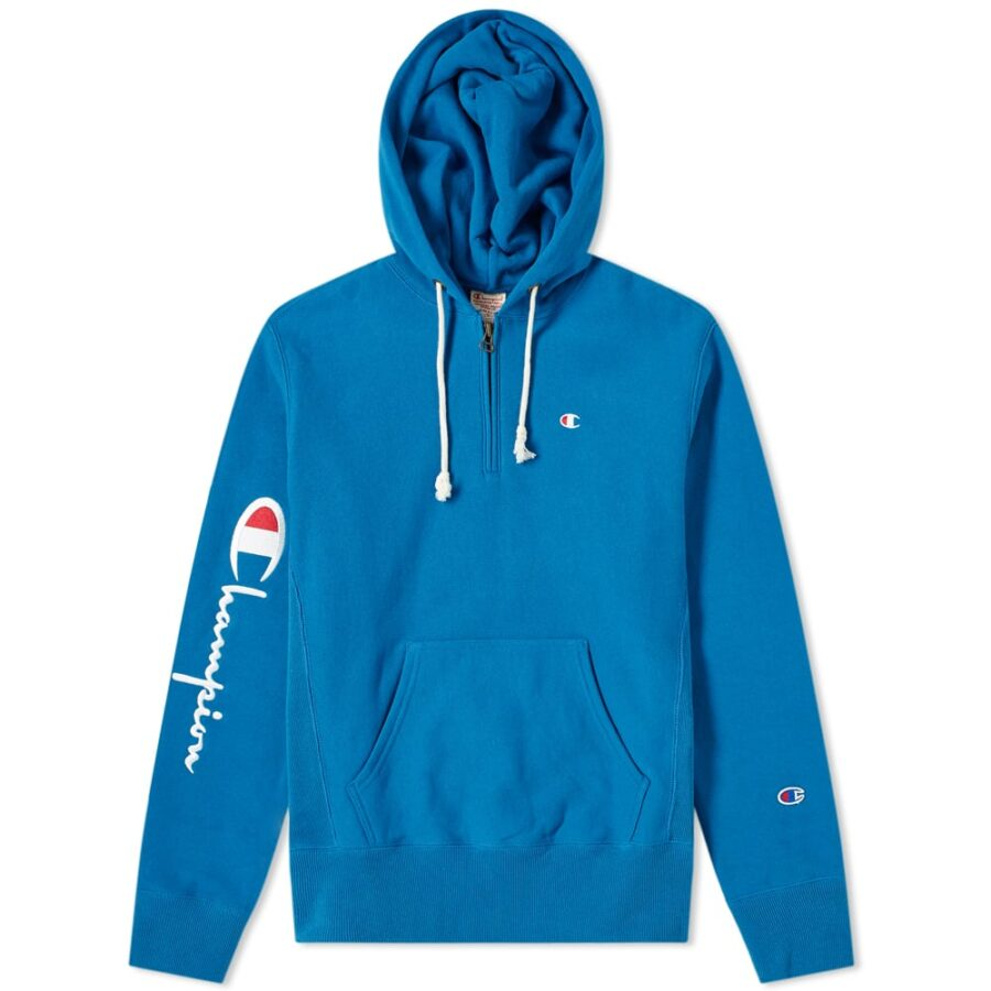 Champion Reverse Weave Half-Zip Hoody 'Blue'