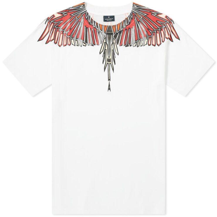 Marcelo Burlon Geometric Wings T-Shirt in White