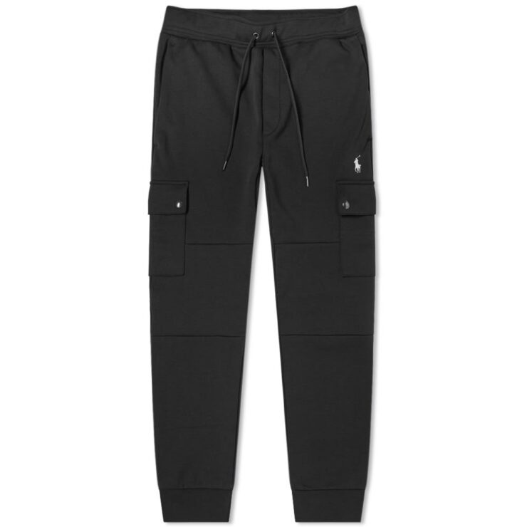 Polo Ralph Lauren Tech Fleece Cargo Pants in Black