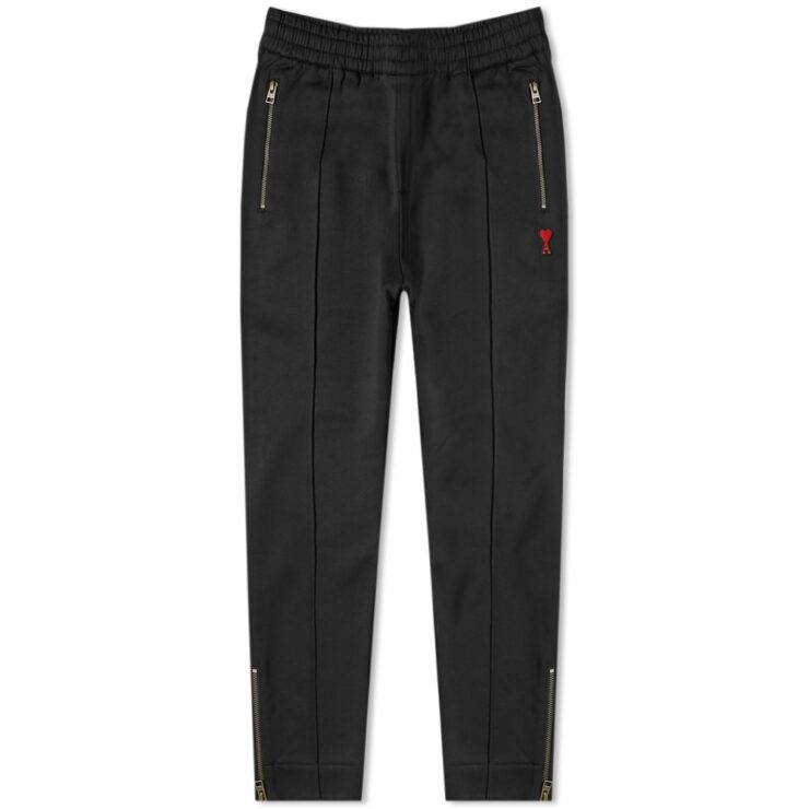 Ami Paris Heart Logo Trackpants in Black
