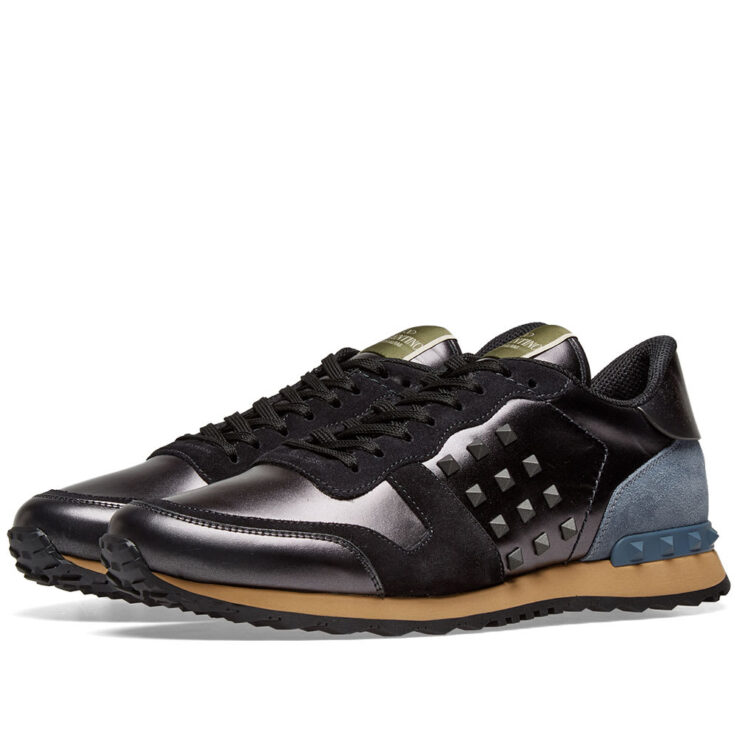Valentino Rockrunner Sneakers in Dark Grey & Navy