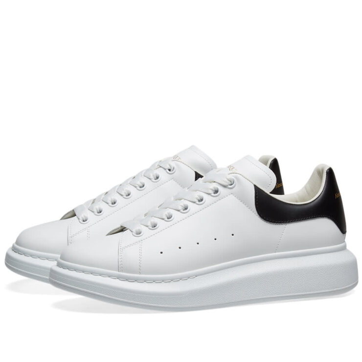 Alexander McQueen Wedge Sole Sneakers White and Black