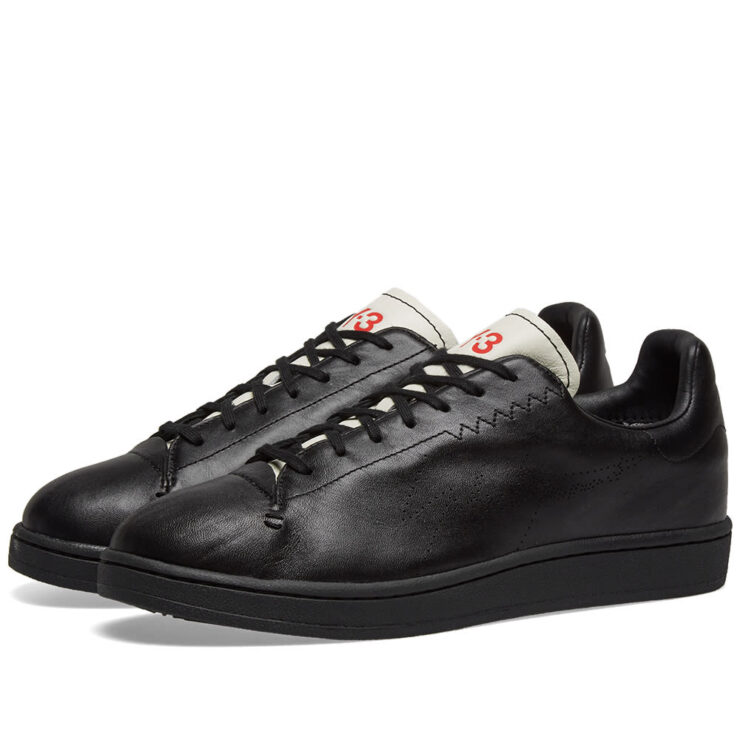 Y-3 Yohji Court Sneakers Stan Smith in Black and White