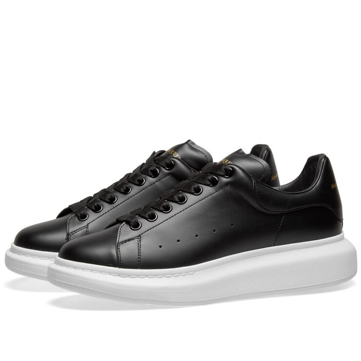 Alexander McQueen Wedge Sole Sneakers Black and White