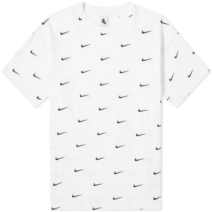 Nike NRG Embroidered Swoosh T-Shirt in White