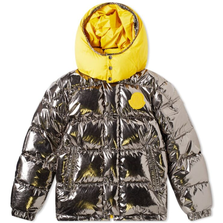 Moncler Genius Prele 1952 Reversible Padded Down Jacket in Metallic and Yellow