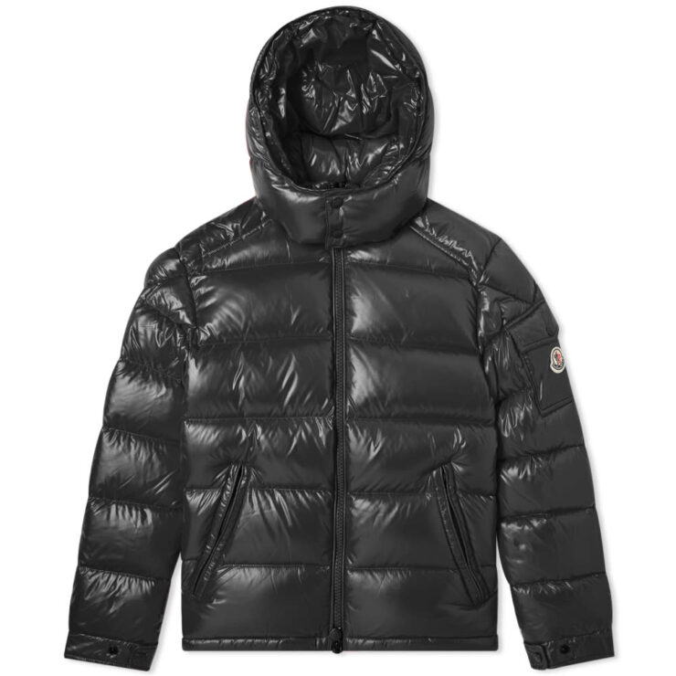 Moncler Maya Down Fill Winter Jacket in Black