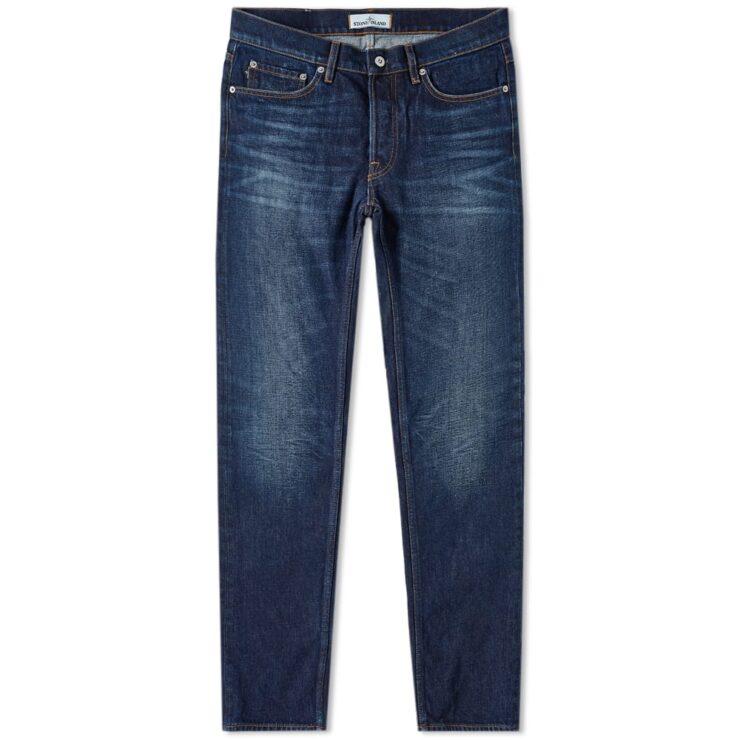 Stone Island Dark Blue Denim Slim Fit Jeans