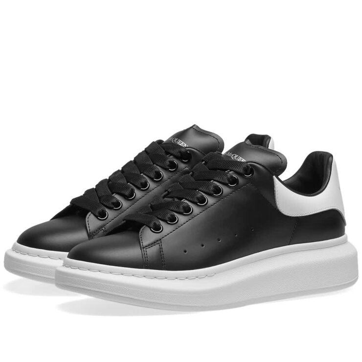 Alexander McQueen Wedge Sole Sneakers 'Black & White'