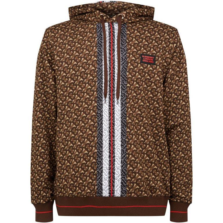 Burberry All-Over TB Monogram Hoodie 'Brown'