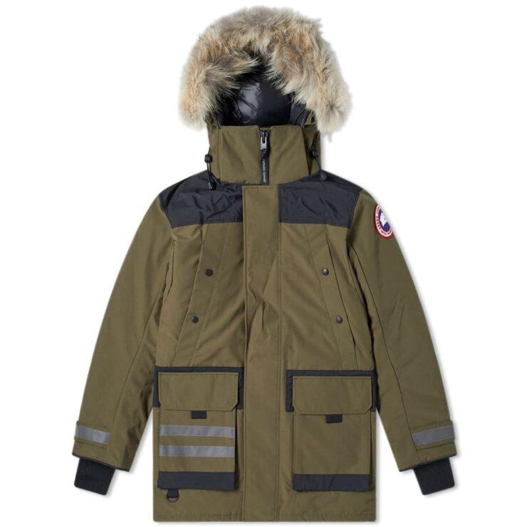 Canada Goose Erickson Parka Jacket in Military Green