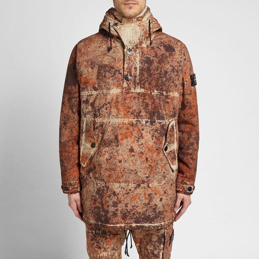 Stone Island Paintball Camo Garment Dyed Parka Jacket in Multi