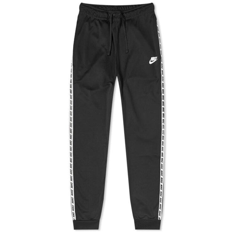 Nike Repeat Poly Track Pants in Black and White