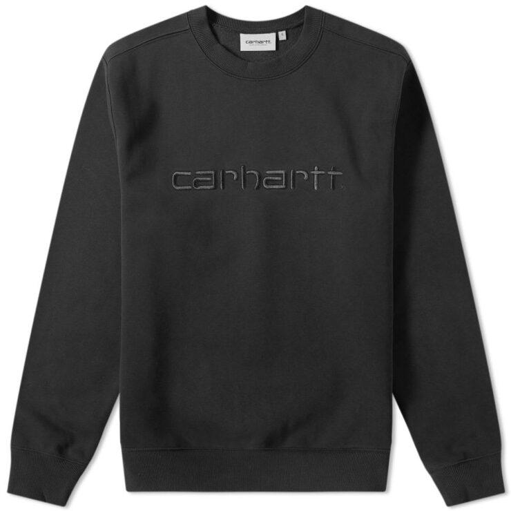 Carhartt Logo Crewneck Sweater in Black