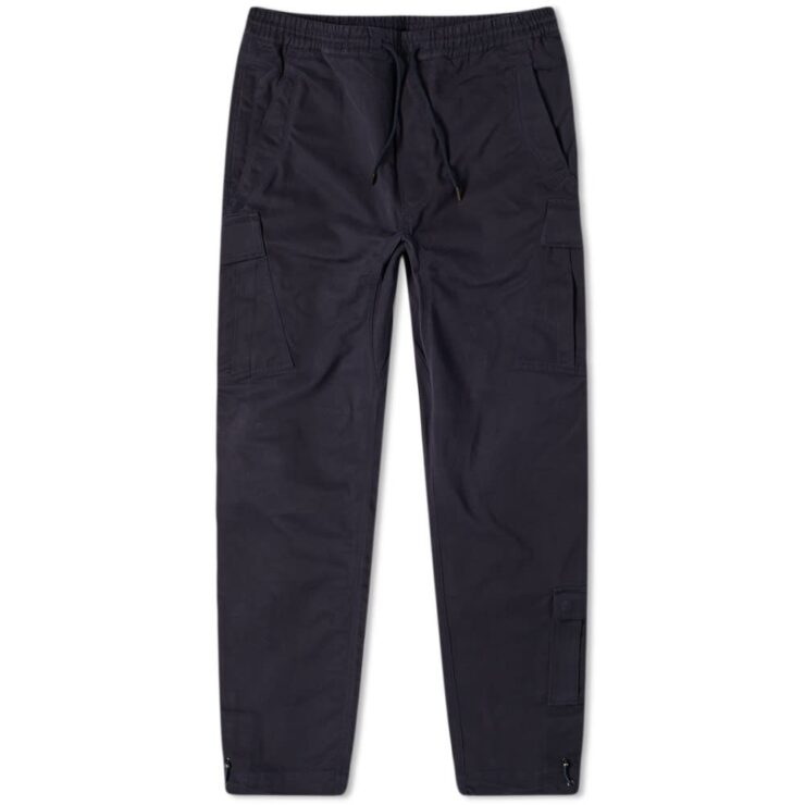 Maharishi Cargo Trackpants in Navy Blue