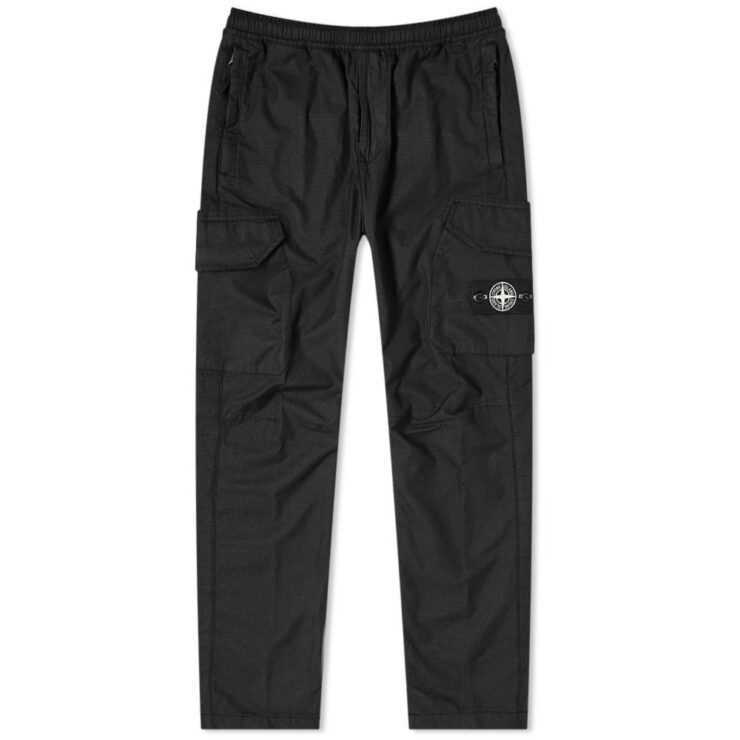 Stone Island Reflective Cargo Pants in Black
