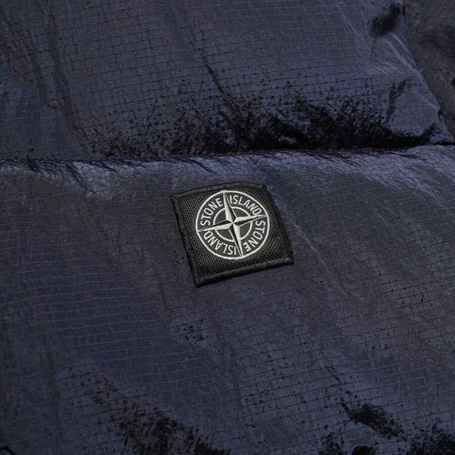 Stone Island Metal Nylon Watro Ripstop Jacket in Metallic Navy Blue