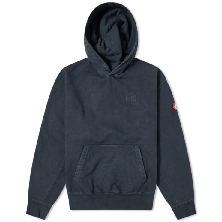 Cav Empt Overdyed Cube Hoodie in Navy
