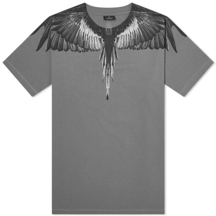 Marcelo Burlon Wingspan T-Shirt in Black & Grey