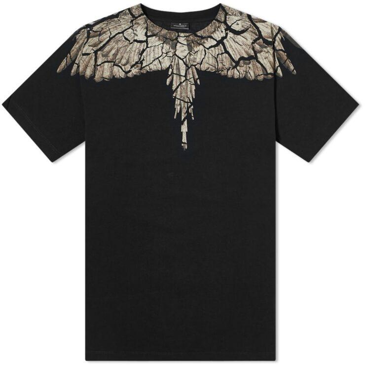 Marcelo Burlon Wings Shoulder T-Shirt 'Brown & Black'