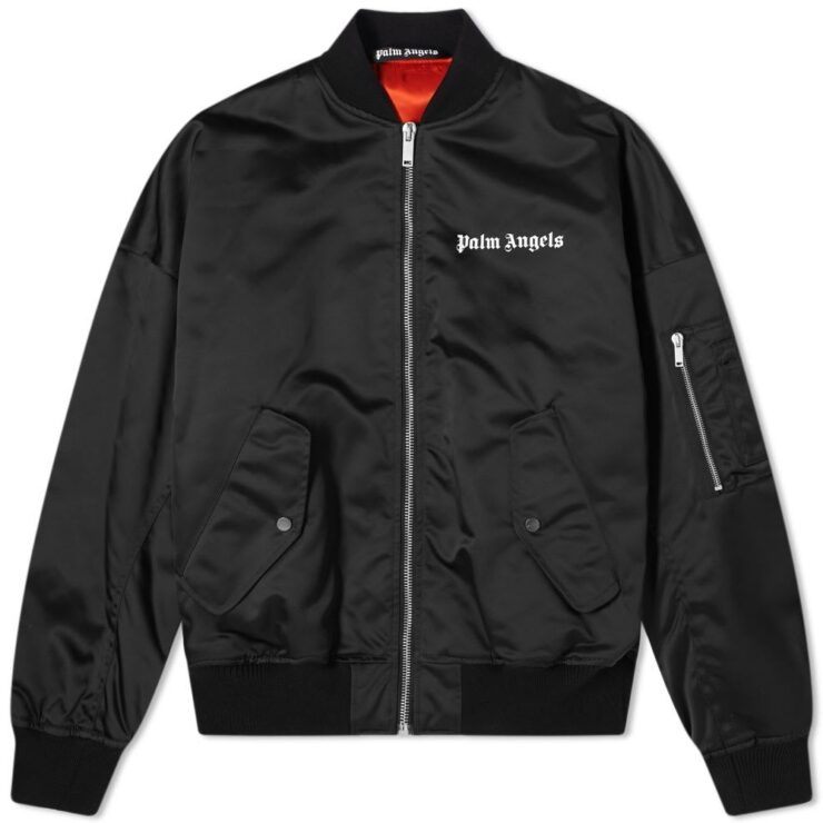 Palm Angels Oversized Logo Bomber 'Black'