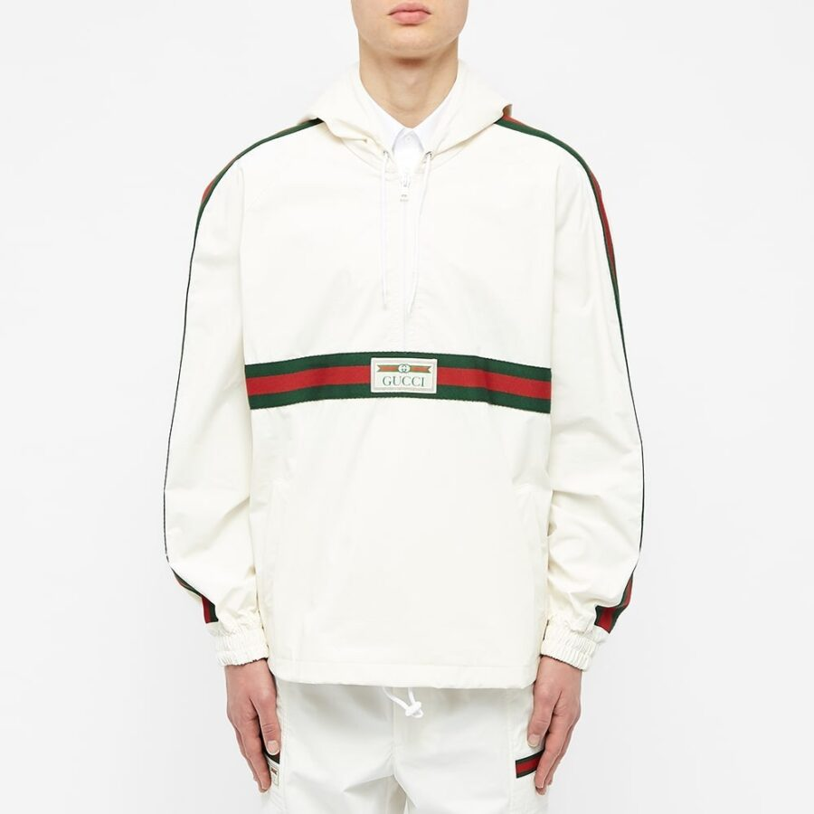 Gucci CRG Stripe & Vintage Smock Windbreaker 'White'