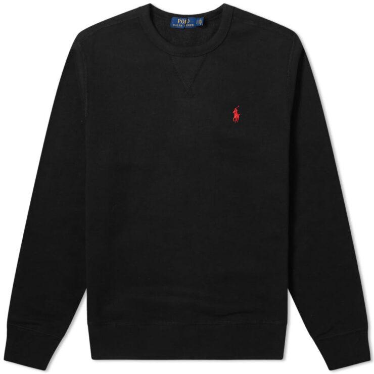 Polo Ralph Lauren Vintage Fleece Crewneck Sweatshirt 'Black'
