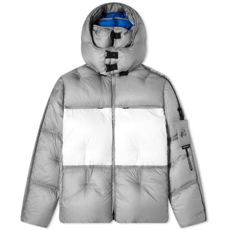 Moncler Genius Project 5 Craig Green Coolidge Puffer Jacket in Grey, White & Blue