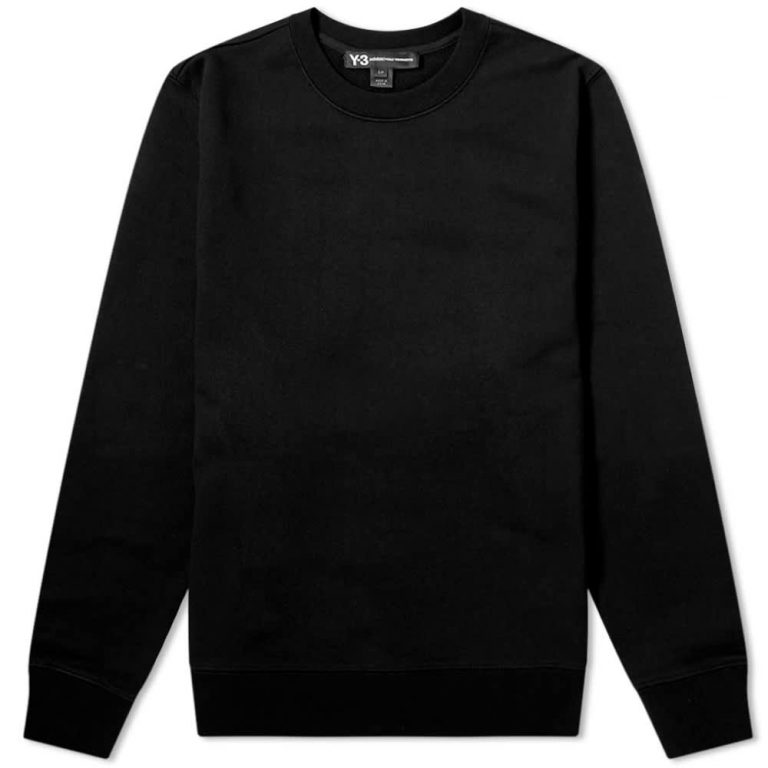 Y-3 Graphic Crewneck Sweatshirt 'Black & Grey'