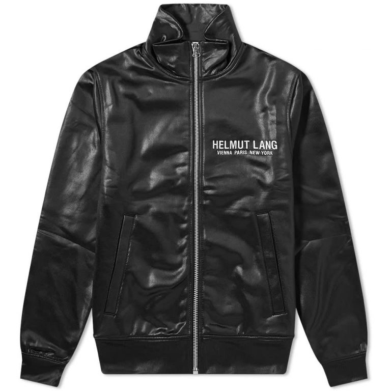 Helmut Lang Sash Polished Track Jacket 'Black'