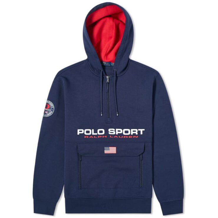 Polo Sport Half-Zip Pocket Hoody 'Navy'