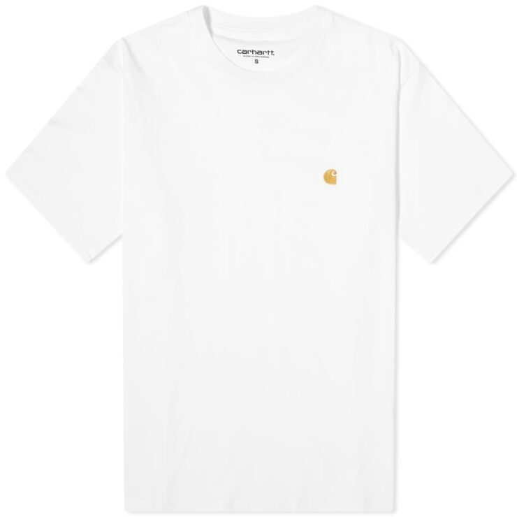 Carhartt WIP Chase T-Shirt 'White & Gold'