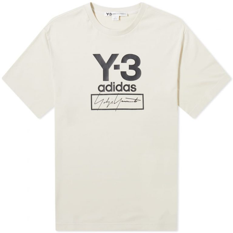Y-3 Stacked Logo T-Shirt 'Ecru'