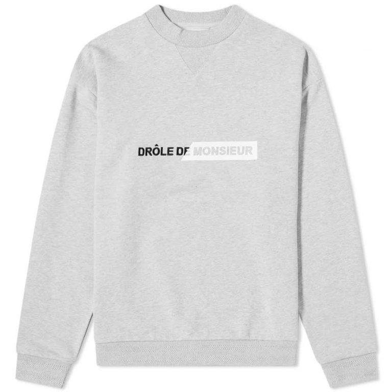 Drôle de Monsieur New Logo Crewneck Sweatshirt 'Grey'