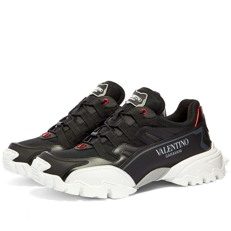 Valentino Climber Sneakers 'Black & White'